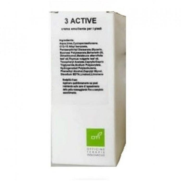 3 ACTIVE Crema Piede Emolliente 50 ml - Trattamento per piedi secchi