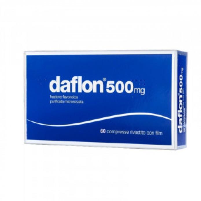 Daflon 60 compresse rivestite 500 mg Integratore per l'insufficienza venosa