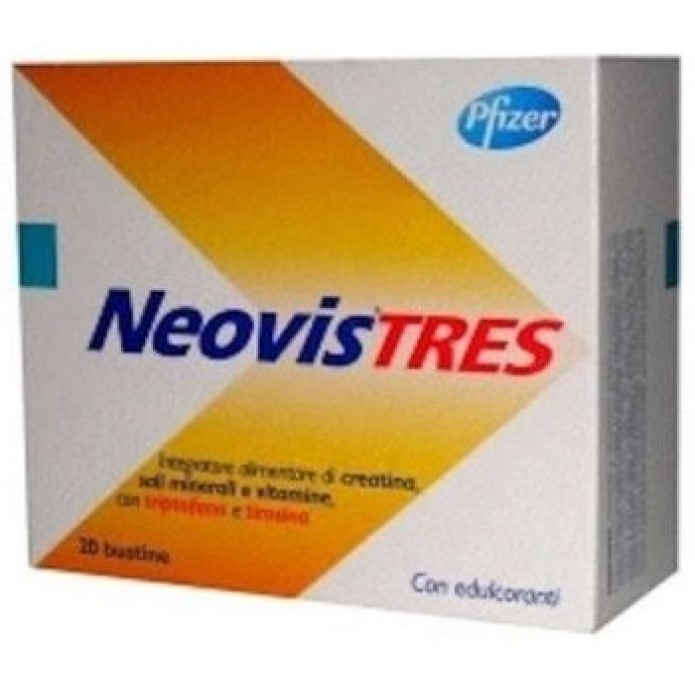 Neovis Tres 20 buste Integratore energizzante di vitamine, sali minerali e aminoacidi