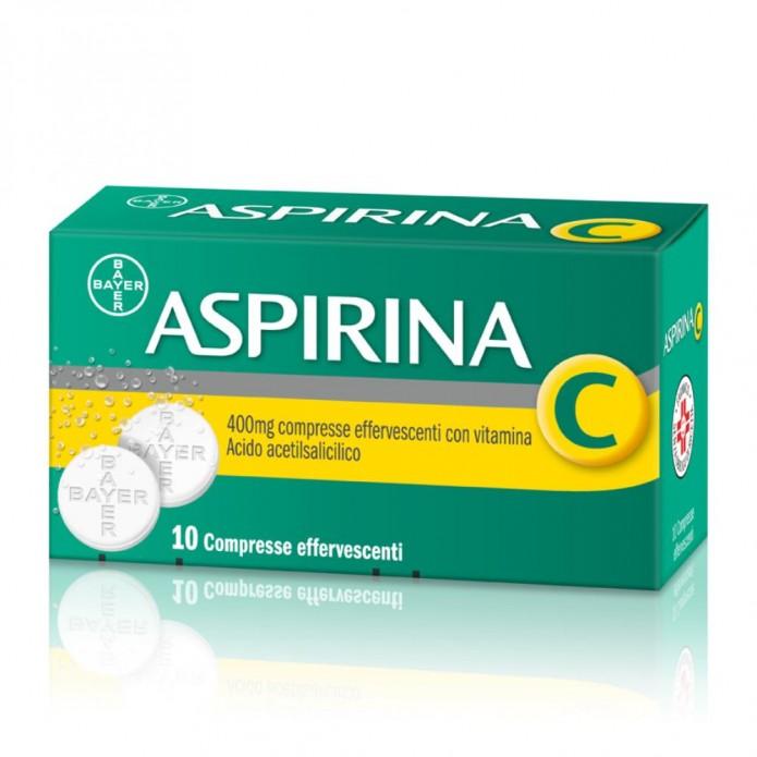 Aspirina C Effervescente 10 compresse 400+240 mg - Trattamento degli stati febbrili e del dolore