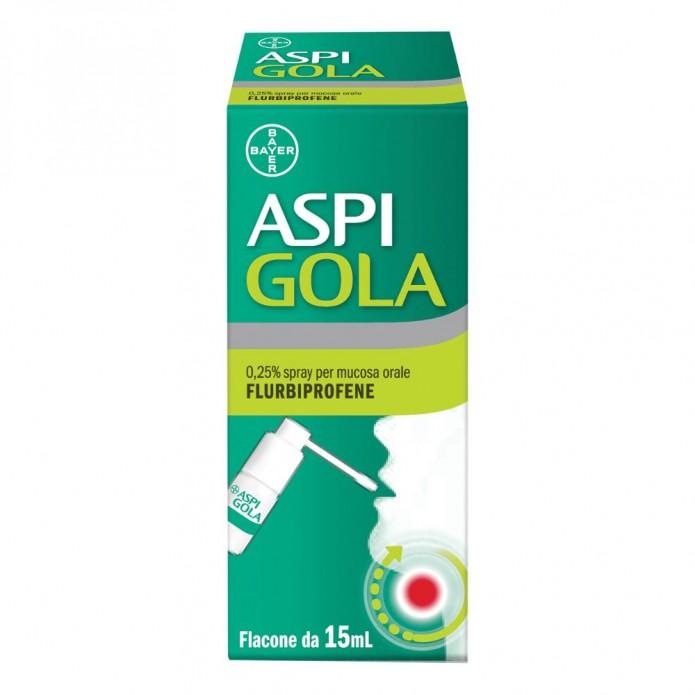Aspi Gola Spray Mucosa Orale 15ml 0,25% - Antinfiammatorio per il mal di gola