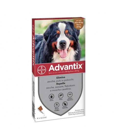 Advantix SPOT-ON 4 pipette 40-60 kg - Antiparassitario Per Cani Di Taglia Grande