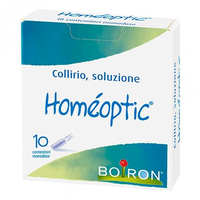 Homeoptic collirio monodose 10 contenitori 0,4 ml - Trattamento omeopatico per bruciore e stanchezza degli occhi