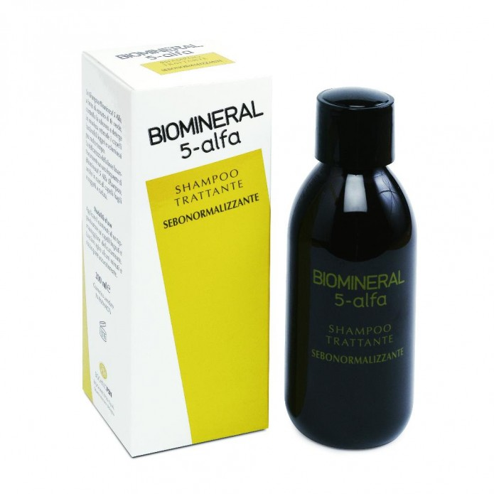 Biomineral 5-alfa shampoo Trattamento anticaduta e sebonormalizzante