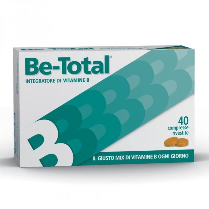 Be-Total 40 Compresse - Complesso Bilanciato di Vitamine B per l'Energia, Sistema Immunitario, Stanchezza e Affaticamento