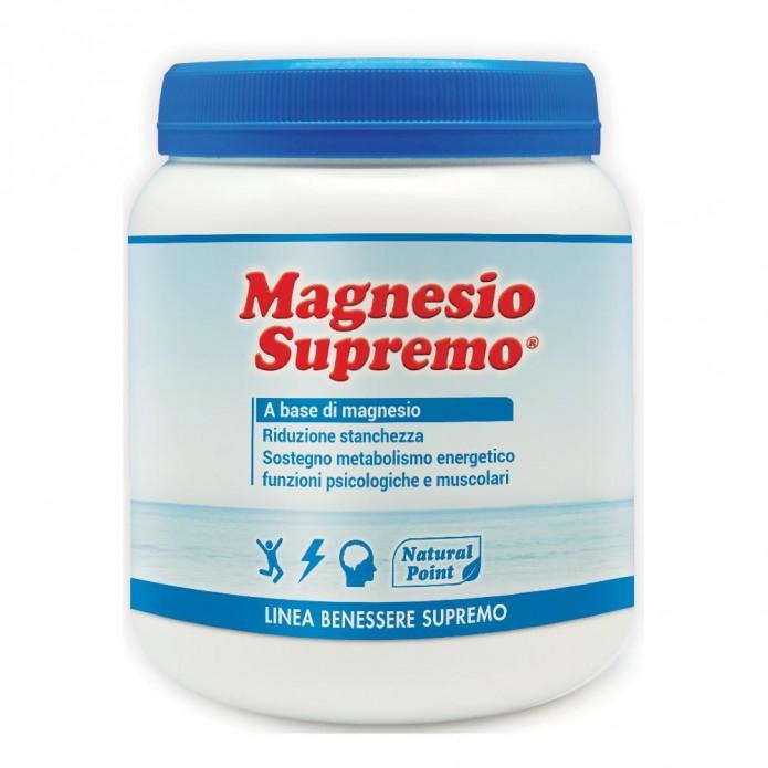 Magnesio Supremo 300 g Natural Point - Integratore di Magnesio per combattere stanchezza e stress