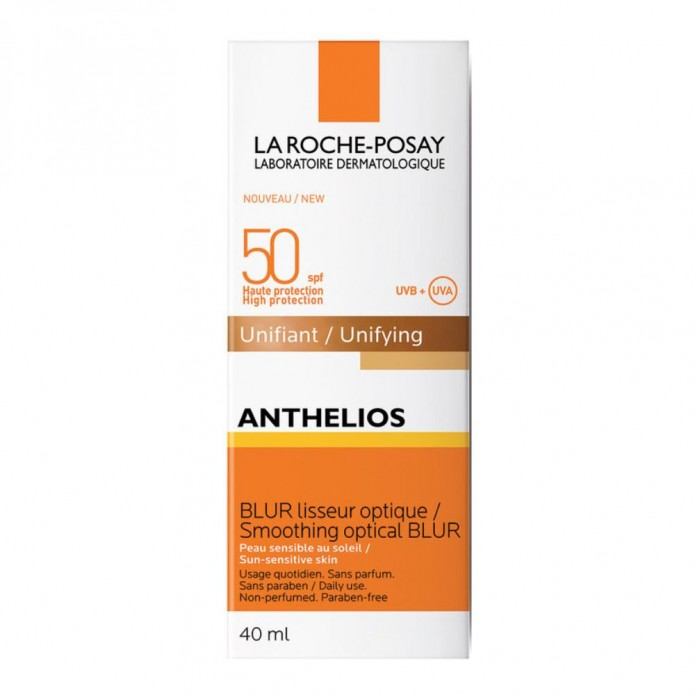 Anthelios Blur Doré viso SPF 50+ 40 ml Uniformante viso a protezione alta