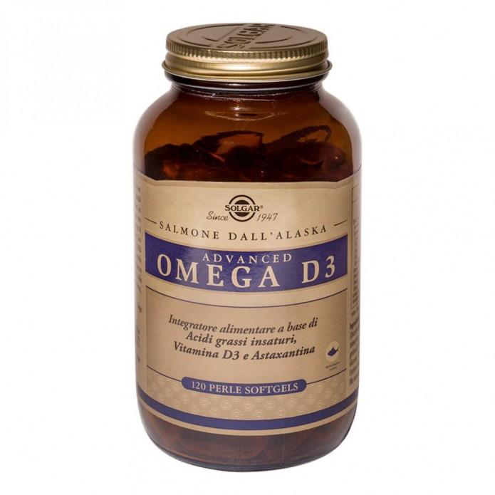 Advanced Omega D3 120 perle - Integratore per sistema cardiocircolatorio, struttura ossea e sistema immunitario