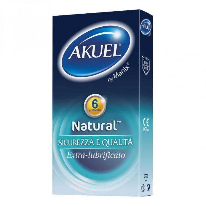 Akuel by Manix Natural b 6 Pezzi - Preservativo extra-lubrificato