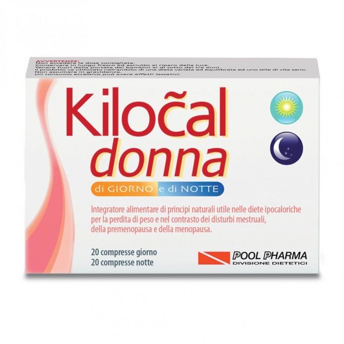 Kilocal donna giorno/notte 40 compresse - Integratore per la perdita del peso e i disturbi mestruali, della premenopausa e della menopausa