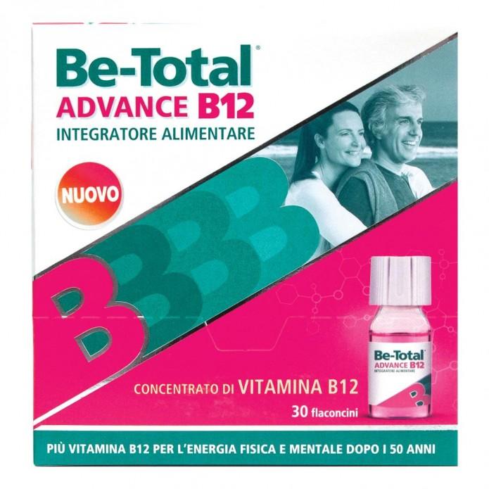 Be-Total Advance B12 30 Flaconcini - Integratore per la Stanchezza Fisica e Mentale