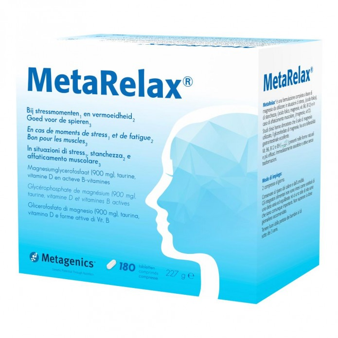Metarelax 180 compresse NEW Integratore per ansia e stress