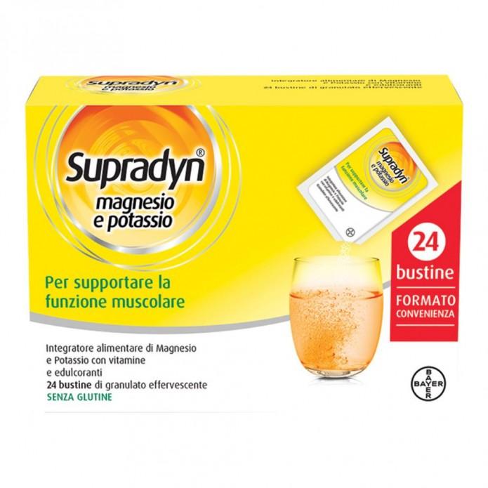 Supradyn Magnesio e Potassio Con Vitamine 24 Buste Per Ridurre L'Affaticamento Fisico