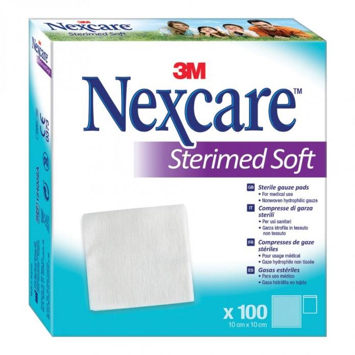 3M Nexcare Sterimed Soft Garza 10x10 cm 100 pezzi - Garza sterile in tessuto non tessuto