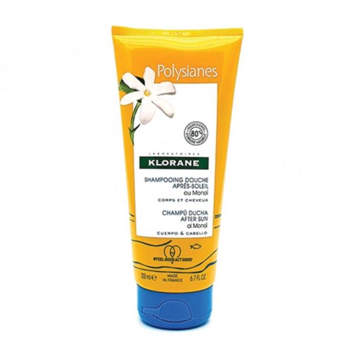 Klorane Shampoo Doccia Doposole Corpo Capelli 200 ml - Detergente nutriente per pelle e capelli