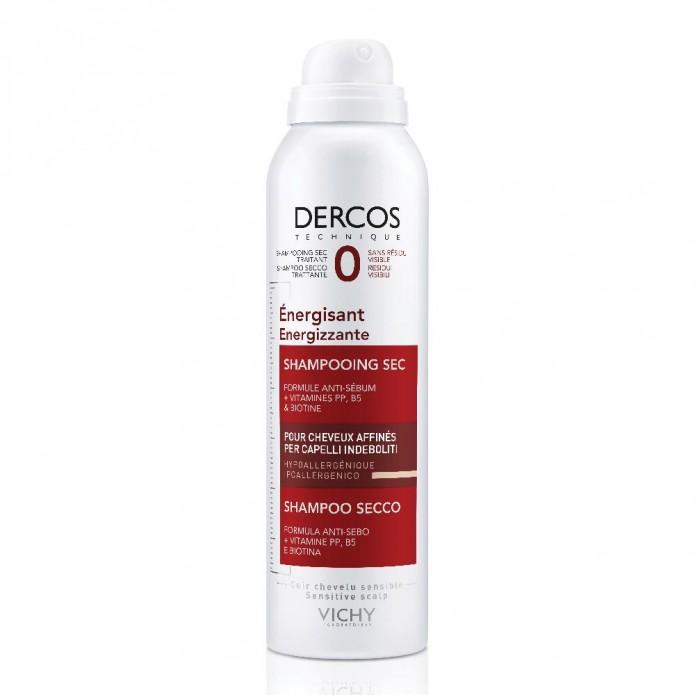 Vichy Dercos Shampoo Secco Energizzante 150 ml - Trattamento per capelli fini o assottigliati