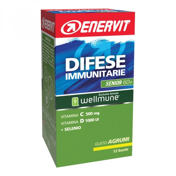 Enervit Difese Immunitarie 60+ 12 buste Integratore per le difese immunitarie in adulti over 60